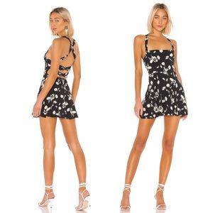 NWT Superdown Victoria Skater Dress in Black Multi